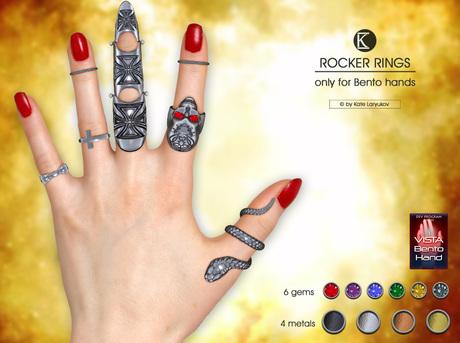 [*K*] Rocker Rings for bento hands