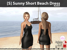 [S] Sunny Short Beach Dress Black