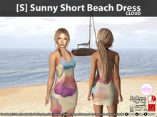 [S] Sunny Short Beach Dress Cloud