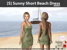 [S] Sunny Short Beach Dress Waves