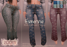 zOOm - Esmerine Jeans Fitted Mesh 2 version - Maitreya, Venus, Isis, Freya, Hourglass and Physique