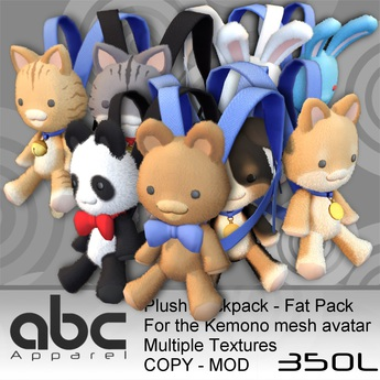 .::ABC::. Plush Backpack - Fatpack