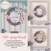 {what next} 'Hello Spring' Wreath (boxed)
