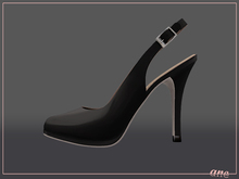 A N E Shoes - Heels Slingback / Closedtoe ONYX BLACK