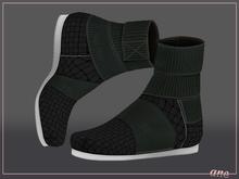 A N E Shoes - KohGenGo Wrap Booties (female ver) Black Woven