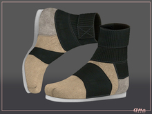 A N E Shoes - KohGenGo Wrap Booties (female ver) Canvas