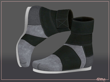 A N E Shoes - KohGenGo Wrap Booties (female ver) Grey Suede