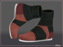 A N E Shoes - KohGenGo Wrap Booties (female ver) Red Suede