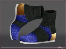 A N E Shoes - KohGenGo Wrap Booties (female ver) Royal Blue