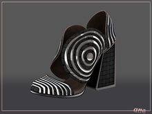 A N E Shoes - Whimsical Heels Black Pattern