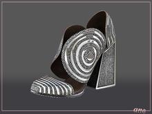 A N E Shoes - Whimsical Heels Herringbone