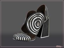 A N E Shoes - Whimsical Heels Plain Black