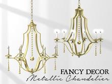 Fancy Decor: Metallic Chandelier (gold)
