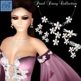 Alyssa Bijoux  - Pearl Daisy Necklace, Bracelet & Earring Set