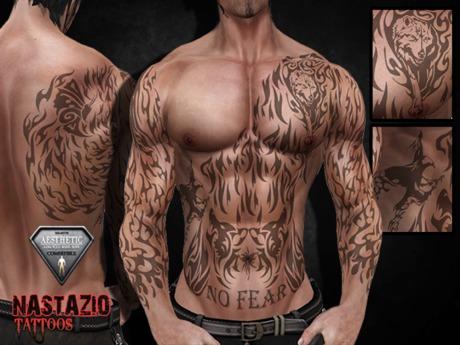 Second Life Marketplace Nastazio In Flames Tattoo For Aesthetic Niramyth