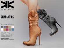 Charlotte :: Ankle Boots :: 10 Colors :: {kokoia} / for maitreya, belleza, slink, tmp and eve