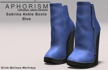 !APHORISM! Sabrina Ankle Boots - Blue