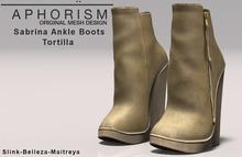 !APHORISM! Sabrina Ankle Boots - Tortilla