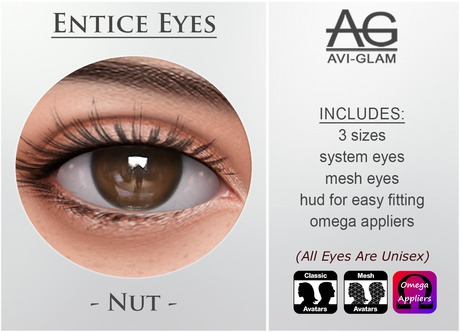 AG. Entice Eyes - Nut