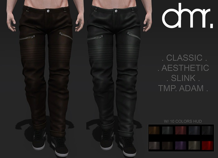 [DR] Pants Male RDMX HUD 10 Color ::mesh::