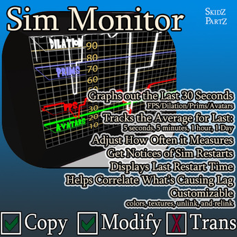 Skidz Partz - Sim Monitor 1.01 - Lag Meter