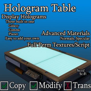 Skidz Partz - Hologram Table