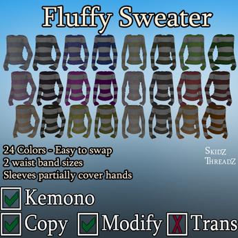 Fluffy Sweater - Kemono - .::Skidz Threadz::.