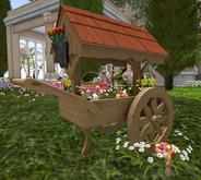 CJ Easter Cart Planter with Basket ~ c + m ~