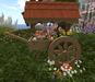 Cj easter cart planter with basket 001
