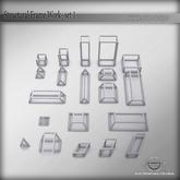 SDS Structural Frame work - sculpted prims set - for builders