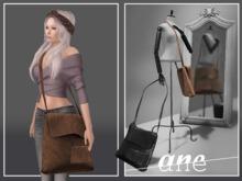 A N E Bag - Messenger Leather BROWN