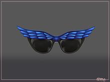 A N E Glasses - Fly Away Sunglasses in Cobalt