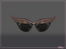 A N E Glasses - Fly Away Sunglasses in Dark Wood