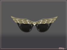A N E Glasses - Fly Away Sunglasses in Gold