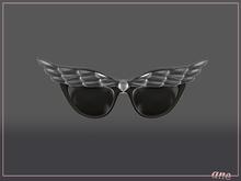 A N E Glasses - Fly Away Sunglasses in Gunmetal