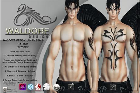Waldorf Design. Jin Kazama Tattoo -BENTO-
