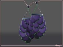 A N E jewelry - Afoil Earrings GRAPE PLASTIC