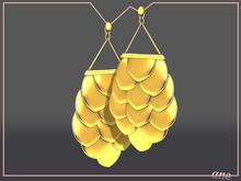 A N E jewelry - Afoil Earrings LEMON GOLD
