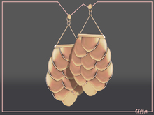 A N E jewelry - Afoil Earrings ROSE GOLD