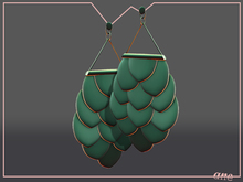 A N E jewelry - Afoil Earrings SPINACH PLASTIC