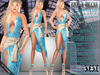 Bella Moda: Scintillio Teal & Gold Dress & Shoes Outfit - Fitted Maitreya/Classic/Physique/Hourglass/Isis/Venus - FULL