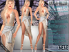 Bella Moda: Scintillio Gold & Silver Dress & Shoes Outfit - Fitted Maitreya/Classic/Physique/Hourglass/Isis/Venus - FULL