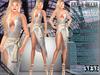 Bella moda scintillio silver   gold dress   shoes outfit