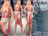 Bella Moda: Scintillio Fuchsia & Gold Dress & Shoes Outfit - Fitted Maitreya/Classic/Physique/Hourglass/Isis/Venus- FULL