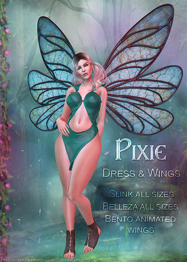 {TWS} - Pixie Dress [Fatpack] Belleza: Venus, Isis, Freya   Slink Physique & Hourglass