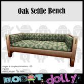 Robot Dolly - Oak Settle Sofa - Spring Retro