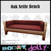 Robot Dolly - Oak Settle Sofa - Fall Leaves