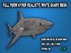 Full Perm  Realistic White  Shark Mesh HQ LOW LI