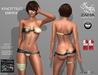 ZAFIA-Knotted Bikini Slink Fitted Mesh