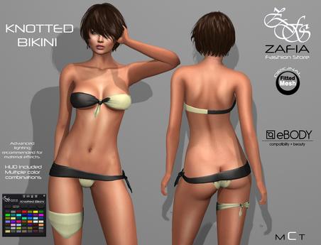 ZAFIA Knotted Bikini eBODY Fitmesh